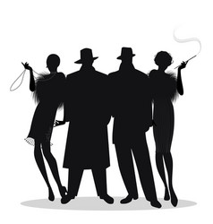 Great Gatsby silhouettes for murder mystery dinner activity